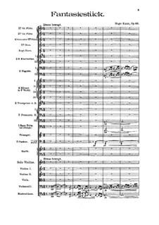Fantastic Piece for Violin and Orchestra, Op.66: Full score by Hugo Kaun