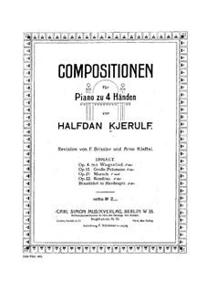 Brudefærden i Hardanger, HK 38: First part, Second part by Halfdan Kjerulf