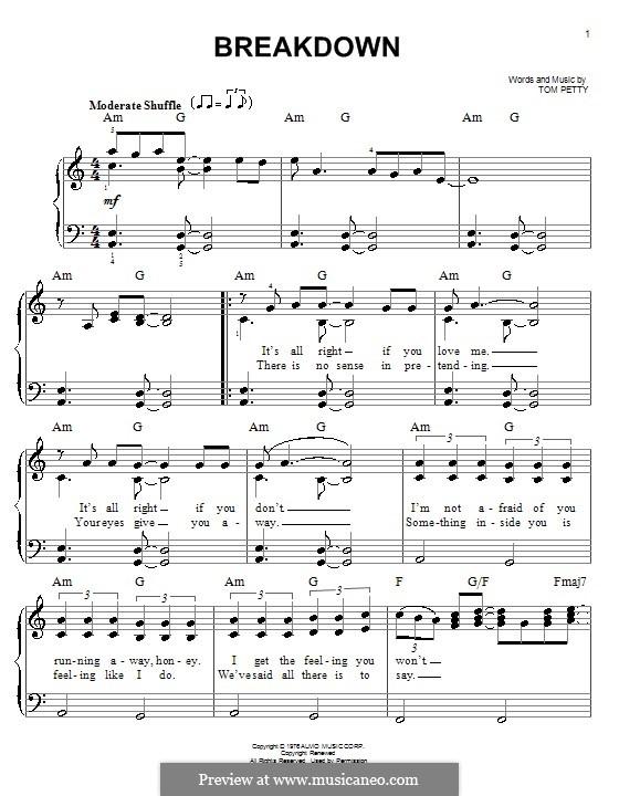 Breakdown By T Petty Sheet Music On Musicaneo