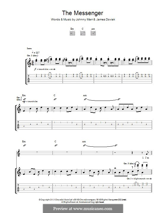 The Messenger: For guitar with tab by Johnny Marr, James Doviak