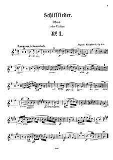 Schilflieder nach Gedichten von Nikolaus Lenau, Op.28: Oboe or violin part by August Klughardt