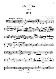 Schilflieder nach Gedichten von Nikolaus Lenau, Op.28: Viola part by August Klughardt