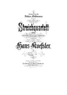 String Quartet No.2: Parts by Hans Koessler