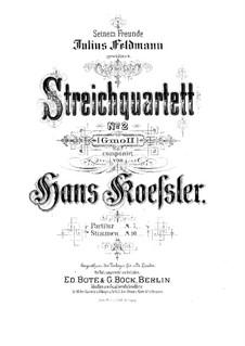 String Quartet No.2: Full score by Hans Koessler