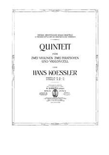 String Quintet: Violin I part by Hans Koessler