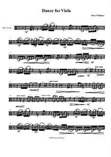 Dance for Viola, Op.114: Dance for Viola by Peter Willsher
