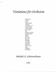Variations for Orchestra: Variations for Orchestra by Michele Schottenbauer