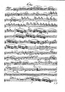 Quintet for Flute and Strings in C Major, Op.58: Violin part by Franz Krommer