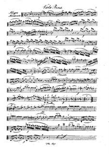 Quintet for Flute and Strings in C Major, Op.58: Viola I part by Franz Krommer