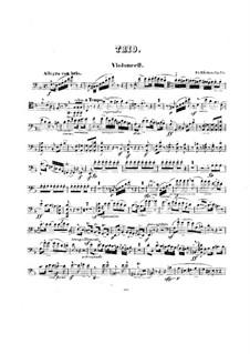 Grand Piano Trio, Op.76: Cello part by Friedrich Wilhelm Kücken