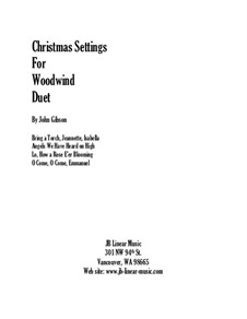 Christmas Settings: For oboe and bassoon by folklore, Michael Praetorius