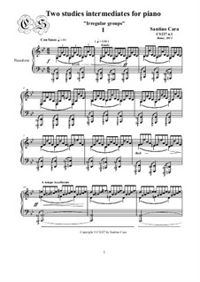 Two studies intermediates for piano, CS227: Two studies intermediates for piano by Santino Cara