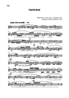 Vocalise-étude: For oboe, two violins, cello and double bass – oboe part by Gabriel Fauré