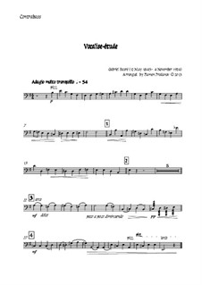 Vocalise-étude: For oboe, two violins, cello and double bass – double bass part by Gabriel Fauré