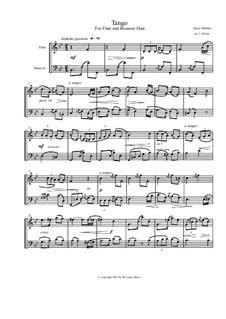 No.2 Tango: For flute and bassoon by Isaac Albéniz