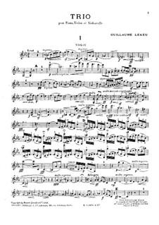 Piano Trio in C Minor: Full score, parts by Guillaume Lekeu