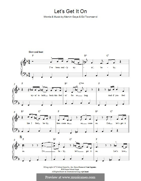Let's Get It on: For piano by Ed Townsend