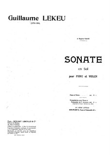 Sonata for Violin and Piano in G Major: Solo part by Guillaume Lekeu