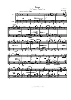 No.2 Tango: For flute and clarinet by Isaac Albéniz
