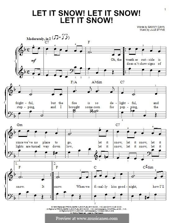 Let It Snow! Let It Snow! Let It Snow!, for Piano: For a single performer by Jule Styne
