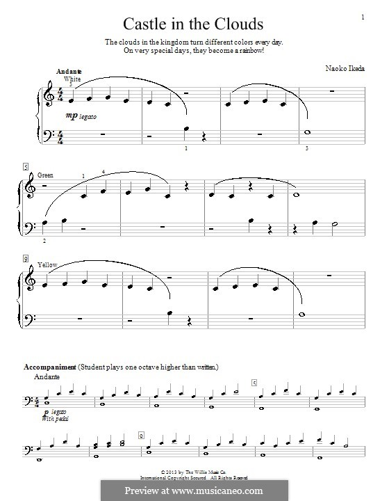 Castle in the Clouds: For piano by Naoko Ikeda