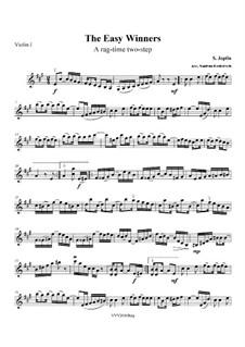 The Easy Winners: For string quartet – parts by Scott Joplin