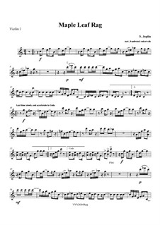 Maple Leaf Rag: For string quartet – parts by Scott Joplin