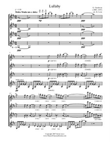 Lullaby: Version for four guitars – score and parts by George Gershwin