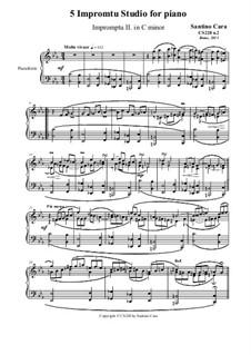 5 Impromptu Studies for Piano, CS228: Impromptu study No.2 in C minor by Santino Cara