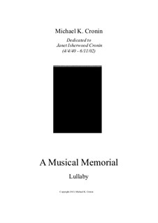 A Musical Memorial: Lullaby by Michael Cronin