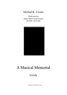 A Musical Memorial: Family by Michael Cronin