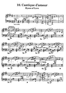 Harmonies poétiques et religieuses, S.173: No.10 Cantique d'amour by Franz Liszt