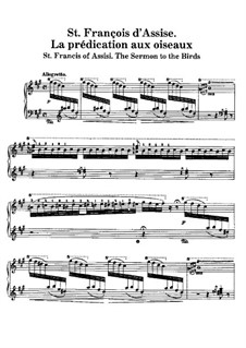 Two Legends, S.175: No.1 St. François d'Assise. La prédication aux oiseaux by Franz Liszt