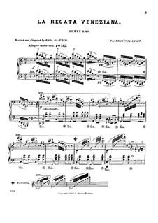 La regata veneziana (The Venetian Regatta): For piano by Gioacchino Rossini