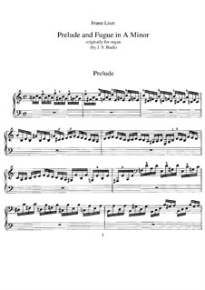 Six Preludes and Fugues, BWV 543-548: No.1. Version for piano, S.462 by Johann Sebastian Bach