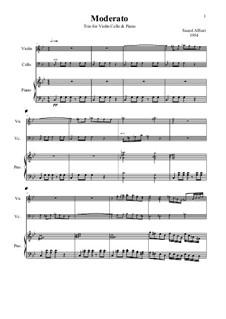 Arabic Trio Violin Cello harpsichord: Arabic Trio Violin Cello harpsichord by Saeed AlSuri