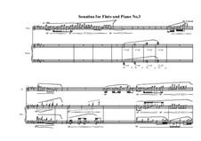 3 Sonatinas for Flute and Piano: Sonatina No.3, MVWV 536 by Maurice Verheul