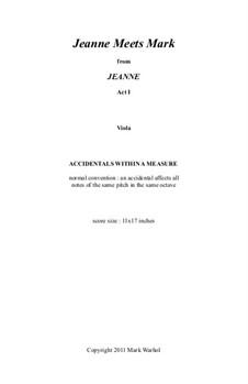 Jeanne: Jeanne Meets Mark – viola part by Mark Warhol