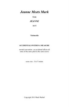Jeanne: Jeanne Meets Mark – violoncello part by Mark Warhol