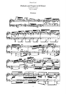 Six Preludes and Fugues, BWV 543-548: No.6. Version for piano, S.462 by Johann Sebastian Bach