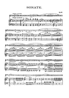 Sonata for Violin and Piano No.10, Op.96: Score by Ludwig van Beethoven