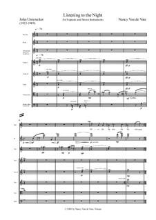 Listening to the Night: Score by Nancy Van de Vate