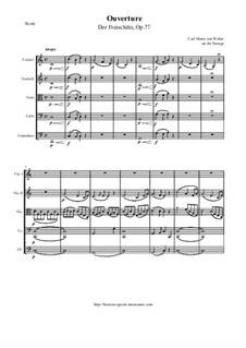 Overture: For string orchestra by Carl Maria von Weber