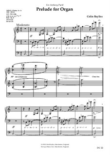 Prelude for Organ, B35: Prelude for Organ by Colin Bayliss