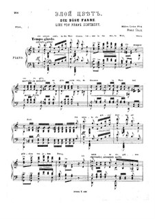 No.17 Die böse Farbe (The Evil Colour): Piano score, S.565 by Franz Schubert