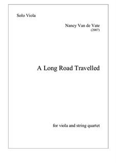 A Long Road Travelled: For string quintet – parts by Nancy Van de Vate