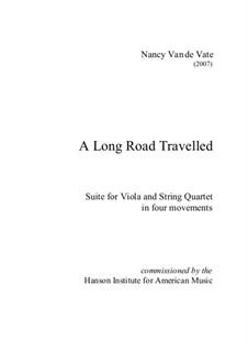 A Long Road Travelled: For string quintet – score by Nancy Van de Vate