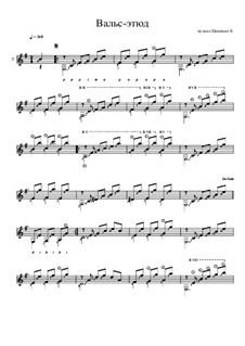 Вальс-этюд No.2: Вальс-этюд No.2 by Konstantin Schenitsyn