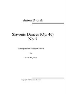 No.7 Skočná: For recorder orchestra by Antonín Dvořák