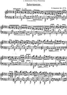 Three Pieces, Op.1: No.2 Intermezzo in E Flat Minor by Sergei Lyapunov